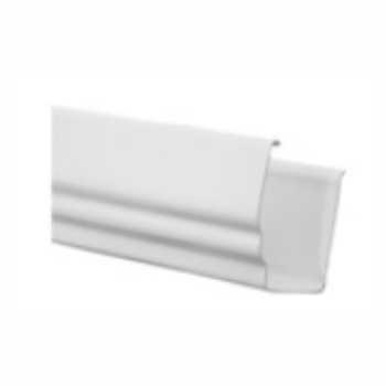Calha Beiral PVC 121mm 3m Pluvial Branca - Ref.37 - GRANPLAST