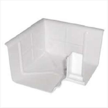 Esquadro Externo PVC 126mm Pluvial Branco - Ref.40 - GRANPLAST