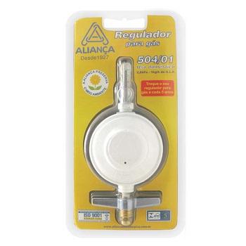 Regulador Gás Zamac Borboleta Médio 504/01 Botijão - Ref. 058555 - ALIANÇA