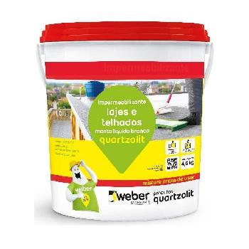 Impermeabilizante Acrílica 4,5kg Manta Líquida Branca - Ref.31112.03.34.053 - QUARTZOLIT