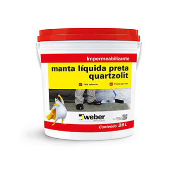 Impermeabilizante Acrílica 3,6kg Manta Líquida Preto - Ref.30942.03.34.056 - QUARTZOLIT