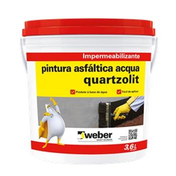 Tinta Betum 3,6Litros Pintura Asfáltica Acqua  - Ref.38010.03.34.056 - QUARTZOLIT