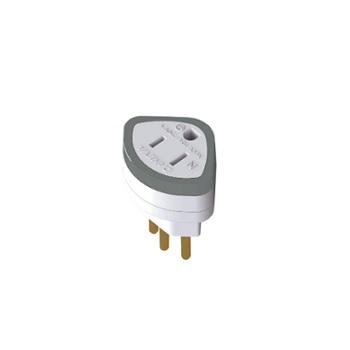 Adaptador 2P+T 10A 250V 1630 - Ref.DN1630 - DANEVA