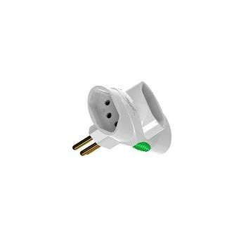 Plug T 250V 2P+T 3 Saídas 10A Branco - Ref.DN1676 - DANEVA