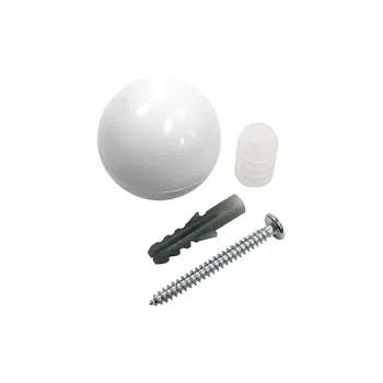 Batedor de Porta Bola de plástico Viva Branco - Ref. 9004 - BEMFIXA