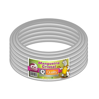 Mangueira PVC 3/4x1,5 50m Cristal Transparente - Ref. MRL010024 - QUALITY