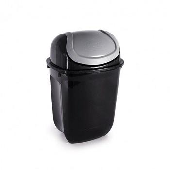 Lixeira Plástica 19,5 Litros Gira Top Ecoblack - Ref. 002496 - PLASUTIL