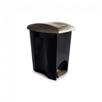 Lixeira plástica 7 Litro com Pedal Ecoblack - Ref.003494 - PLASUTIL
