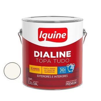 Tinta Esmalte Acetinado Dialine Base Água Branco Neve 3,6 Litros - Ref. 236200201 - IQUINE