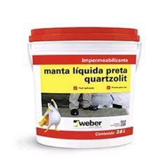 Impermeabilizante Acrílica 18kg Manta Líquida Preto - Ref.31113.02.34.053 - QUARTZOLIT