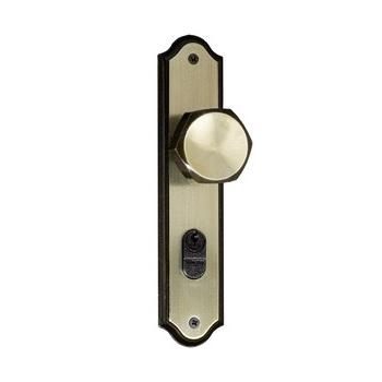 Fechadura Externa Bola Espelho Premium Fixa 1101/02 FPO Oxidada - Ref. 93154 - SILVANA
