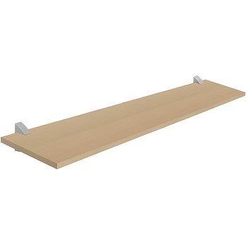 Prateleira em MDF 25x100cm com Suporte Concept Maple Prata - Ref.08854.080 - PRAT-K