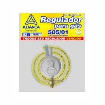 Regulador Gás Zamac Com Mangueira 80cm Pequeno 505 - Ref. 061777- ALIANÇA