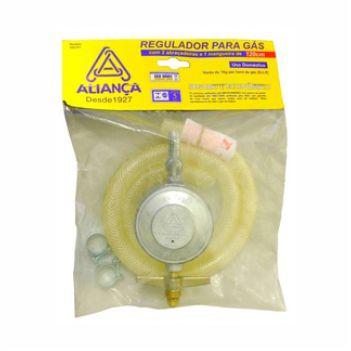 Regulador Gás Zamac Com Mangueira De 120cm Médio 504 - Ref. 058968 - ALIANÇA