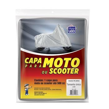 Capa de Plástico para Moto Forrada Cinza - Ref.531-202 -  PLAST LEO