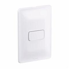 Interruptor 4x2 1T Simples Horizontal 10A Zeffia Branco - Ref.680100 - PIAL