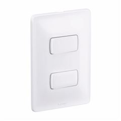 Interruptor 4x2 2T S Horizontal 10A Zeffia Branco - Ref.680101 - PIAL