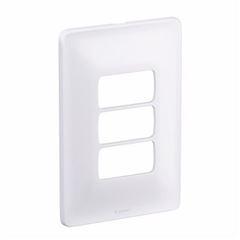 Placa 4x2 3 Postos Horizontal Zeffia Branco - Ref.680183 - PIAL