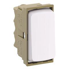 Interruptor Módulo 1m Simples 10A Zeffia Branco - Ref.680150 - PIAL