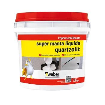 Impermeabilizante Super Manta Líquida de Acrílico 12kg Branca - Ref. 31171.54.34.053 - QUARTZOLIT