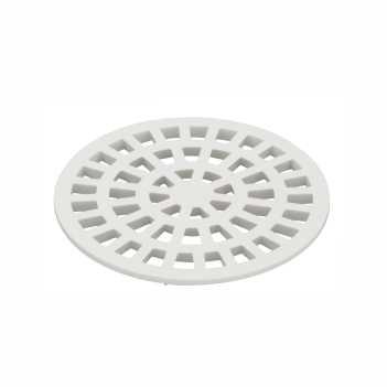 Grelha PVC 100mm Redondo N54 Branco - Ref. 0940- KRONA