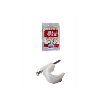 Fixa Fio Coaxial 10mm Branco Cartela com 20 Peças - Ref.2.5A10 - FIX ALL