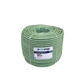 Corda Poliéster 12MM Trançada Pet Verde - Ref. 45212031 - RIOMAR