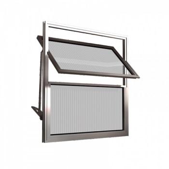 Basculante Alumínio 60x40 2 Folhas Vidro Canelado MCJBNTC002 - Ref. EMC001002 - QUALITY