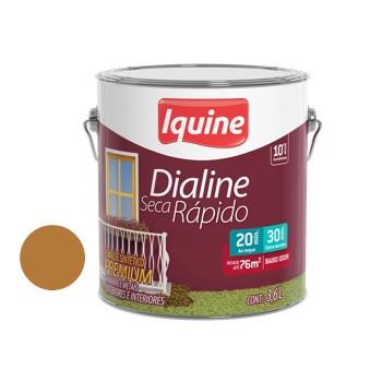 Esmalte Brilhante Dialine Secagem Rápida Premium Dourado 3,6 Litros - Ref.62221001 - IQUINE