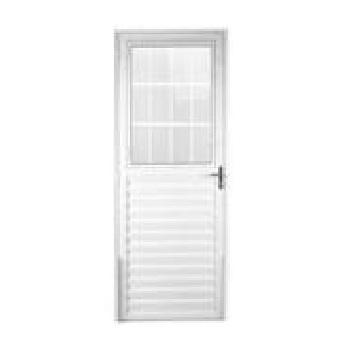 Porta Alumínio 80x210 Lado Direito Postigo Vidro Canelado MCPPNTC001 - Ref. EMC008007 - QUALITY