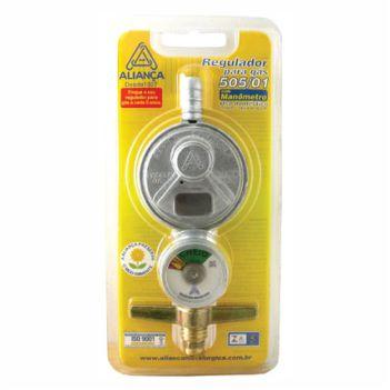 Regulador Gás Zamac Manômetro Pequeno 505 - Ref. 070946 - ALIANÇA