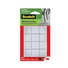 Feltro Adesivo Quadrado para Móveis com 12 Unidades Tamanho P Scotch Branco - Ref.HB004262604 - 3M
