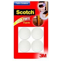 Feltro Adesivo Redondo para Móveis Pesados com 4 Unidades Tamanho GG Scotch Branco - Ref.HB004262612 - 3M