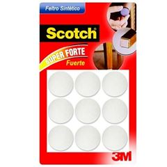 Feltro Adesivo Redondo para Móveis Com 9 Unidades Tamanho G Scotch Branco - Ref.HB004262620 - 3M