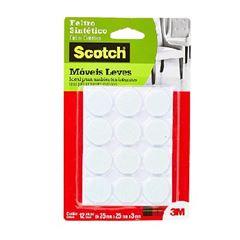 Feltro Adesivo Redondo para Móveis com 12 Unidades Tamanho M Scotch Branco - Ref.HB004262638 - 3M