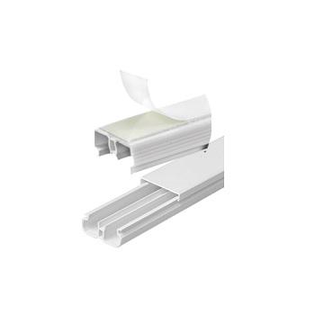 Canaleta Sistema X 20x10mm 2m Divisória Dupla Face Branca - Ref.62091DF - ILUMI