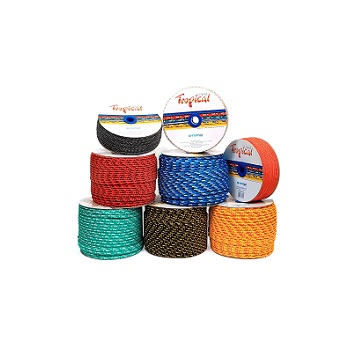 Corda Polipropileno 10mm Trançada Tropical Cores - Ref. 43210231 - RIOMAR
