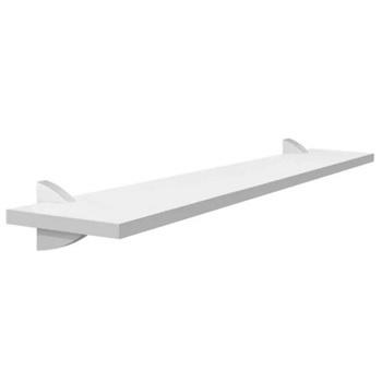 Prateleira de Madeira 30x90cm Classic com Suporte Branco - Ref.331090030 - PRATEFIX