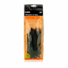 Abraçadeira de Nylon 200x3,5mm Cartela com 100 Peças Preta - Ref.18.15 - FOXLUX
