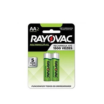 Pilha AA Recarregável com 2 Unidades Econômica - Ref.55802 - RAYOVAC