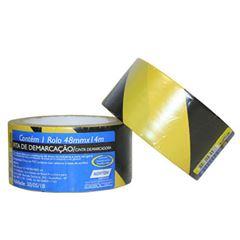 Fita Adesiva 48mmx14m Demarcação Solo Amarela/Preto - Ref.66623386804 - NORTON