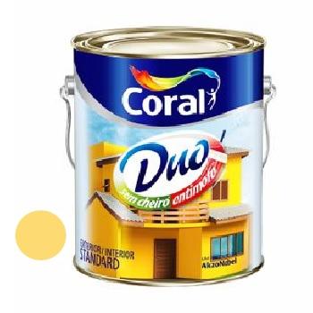 Tinta Acrílica Fosca Coralar Duo Amarelo Frevo 3,6L - Ref. 5207301 - CORAL