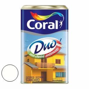 Tinta Acrílica Fosca Coralar Duo Branco 18 Litros - Ref. 5207321 - CORAL