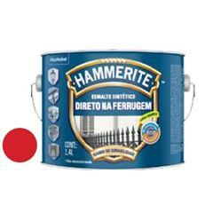 Tinta Esmalte Sintético Brilhante Hammerite Premium Vermelho 2,4 Litros - Ref. 5209163 - CORAL