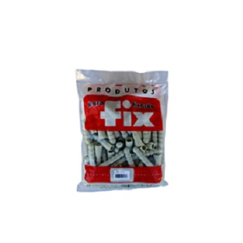 Bucha Fixação Polietileno D6 Saco com 500 Peças - Ref.1.2G - FIX ALL