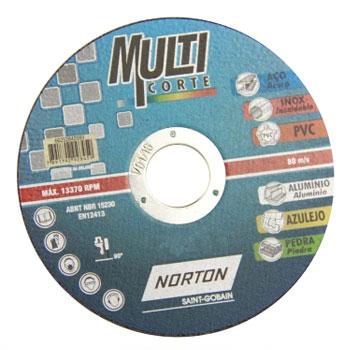 Disco de Corte 4.1/2 Polegadas Aço T41 Multi Corte - Ref.66252842093 - NORTON