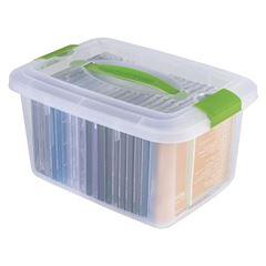 Caixa Plástica 5,2 Litros Box Vision Com Alça - Ref.002325 - PLASUTIL