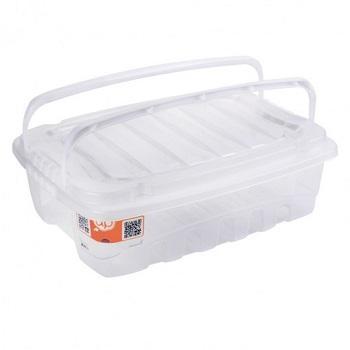 Caixa Plástica Baixa 9,3 Litros Gran Box Com Alça - Ref. 002770 - PLASUTIL
