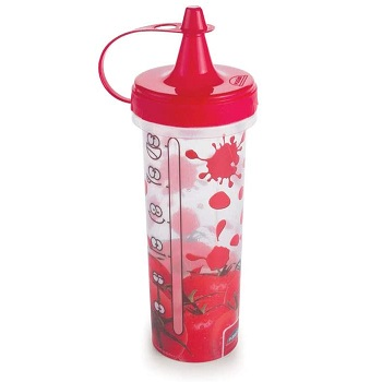 Bisnaga de Plástico para Catchup 280ml Vermelho - Ref.005728 - PLASÚTIL