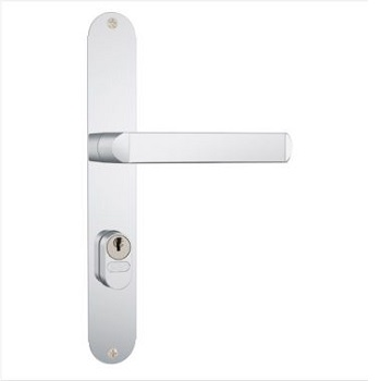 Fechadura Externa Estreita Alumínio Espelho 501-502/03 Inox - Ref. 35016 - STAM